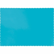 Touch of Color Bermuda Blue Paper Placemats 600 ct in quantities of 50 / pkg, 12 pkgs / case