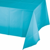 Bermuda Blue Plastic Tablecloth 12 ct