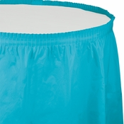 Touch of Color Bermuda Blue Plastic Tableskirt 6 ct in quantities of 1 / pkg, 6 pkgs / case