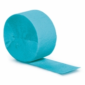 Touch of Color Bermuda Blue Crepe Streamer 12 ct in quantities of 1 / pkg, 12 pkgs / case