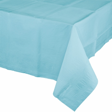 Touch of Color Pastel Blue Paper Tablecloths in quantities of 1 / pkg, 6 pkgs / case