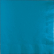 Touch of Color Turquoise 2 Ply Luncheon Napkins in quantities of 50 / pkg, 12 pkgs / case