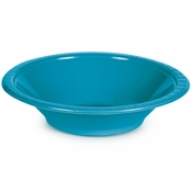 Touch of Color Turquoise 12 oz Plastic Bowls in quantities of 20 / pkg, 12 pkgs / case