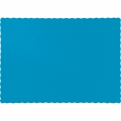 Touch of Color Turquoise Paper Placemats in quantities of 50 / pkg, 12 pkgs / case