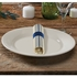 """8"""" x 4"""" Pre-rolled CaterWrap Blue Ticking Stripe Dinner Napkins with EarthWise Cutlery 100 ct"""