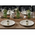 """8"""" x 4"""" Pre-rolled CaterWrap Black Ticking Stripe Dinner Napkins with EarthWise Cutlery 100 ct"""