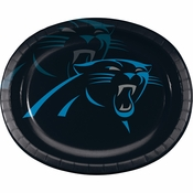 Carolina Panthers 12in Oval Plates 96 ct