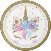 Unicorn Baby Shower Dessert Plates 96 ct