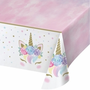 Unicorn Baby Shower Plastic Tablecloths 6 ct