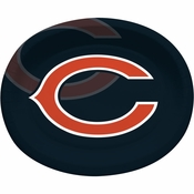 Orange and blue Chicago Bears Oval Platters are sold 8 / pkg, 12 pkgs / case