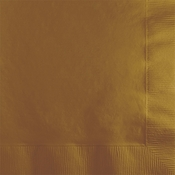Touch of Color Glittering Gold 2 ply Beverage Napkins in quantities of 50 / pkg, 12 pkgs / case