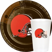 Brown and orange Cleveland Browns Party Supplies