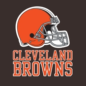 Orange and brown Cleveland Browns Luncheon Napkins are sold 16 / pkg, 12 pkgs / case