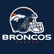 Blue and orange Denver Broncos Luncheon Napkins are sold 16  / pkg, 12 pkgs / case