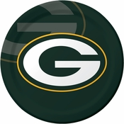 Green and gold Green Bay Packers Dinner Plates are sold 8 / pkg, 12 pkgs / case