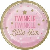 One Little Star Girl Dinner Plates 96 ct