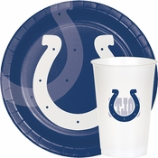 Blue and white Indianapolis Colts Party Supplies