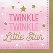 One Little Star Girl Luncheon Napkins 192 ct