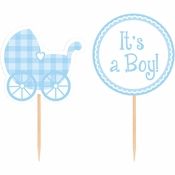 Cupcake Picks Baby Boy 144 ct