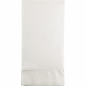 Touch of Color White 3 Ply Guest Towels in quantities of 16 / pkg, 12 pkgs / case
