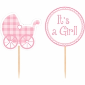 Cupcake Picks Baby Girl 144 ct