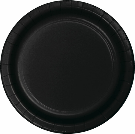 Touch of Color Black Velvet Banquet Plates in quantities of 24 / pkg, 10 pkgs / case