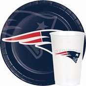 Red, white and blue New England Patriots Party Supplies