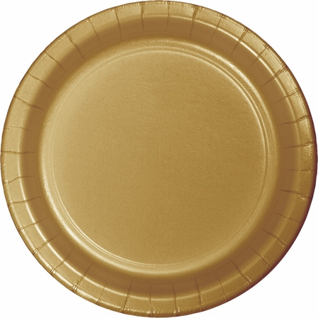 Touch of Color Glittering Gold Banquet Plates in quantities of 24 / pkg, 10 pkgs / case