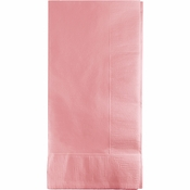 Touch of Color Classic Pink 2 Ply Dinner Napkins in quantities of 50 / pkg, 12 pkgs / case