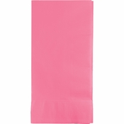 Touch of Color Candy Pink 2 Ply Dinner Napkins in quantities of 50 / pkg, 12 pkgs / case