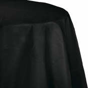 Touch of Color Black Velvet Octy-Round Paper Tablecloths in quantities of 1 / pkg, 12 pkgs / case