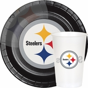 Black, white and gold Pittsburgh Steelers Party Supplies