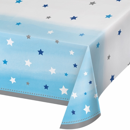 One Little Star Boy Plastic Tablecloths 6 ct