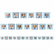 1st Birthday Boy Photo Banners 12 ct
