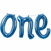 1st Birthday Boy One Balloons Banners 12 ct
