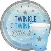 One Little Star Boy Baby Shower Supplies