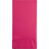 Touch of Color Hot Magenta 3 Ply Guest Towels in quantities of 16 / pkg, 12 pkgs / case