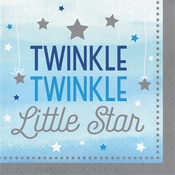 One Little Star Boy Luncheon Napkins 192 ct