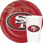 Scarlet, gold and white San Francisco 49ers Party Supplies