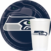 Blue and silver Seattle Seahawks Party Supplies