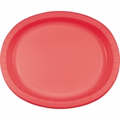 Coral Oval Plates