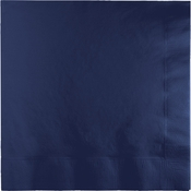 Touch of Color Navy 2 Ply Luncheon Napkins in quantities of 50 / pkg, 12 pkgs / case