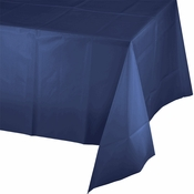 Touch of Color Navy Plastic Tablecloths in quantities of 1 / pkg, 12 pkgs / case