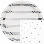 White and Silver Foil Party Supplies