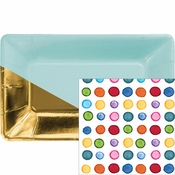 Multicolor Dots and Stripes Party Supplies