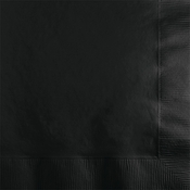 Touch of Color Black Velvet 2 ply Beverage Napkins in quantities of 50 / pkg, 12 pkgs / case