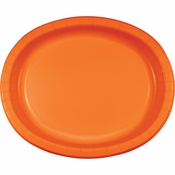 Sunkissed Orange Oval Platters sold in quantities of 8 / pkg, 12 pkgs / case.