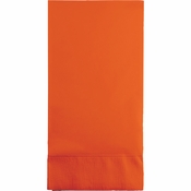Touch of Color Sunkissed Orange 3 Ply Guest Towels in quantities of 16 / pkg, 12 pkgs / case