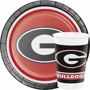 Cheer for your home team, like the University of Georgia, using our high quality and bulk priced collegiate tableware items.