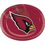 Arizona Cardinals 12in Oval Plates 96 ct